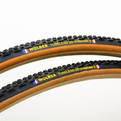 Pair of clincher Wolber Tubeless 28 Chamonix Cyclocross