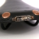 "Black leather saddle Brooks Professional ""Selle Rodée main"""