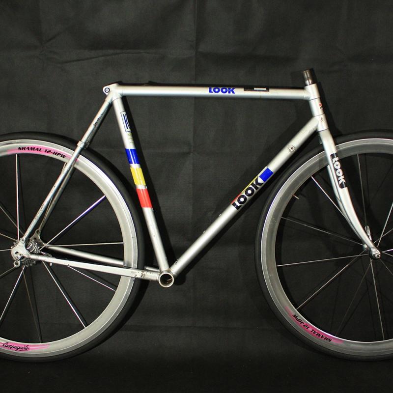 Cherche vélo Look 1985 – 1999 petite taille Cadre-fourche-gris-look-kg176-taille-54