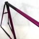Cadre & fourche noir et violet Rossin Columbus Taille 56