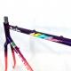 Cadre & fourche violet et rose Peugeot Racing Team Reynolds 653 T54