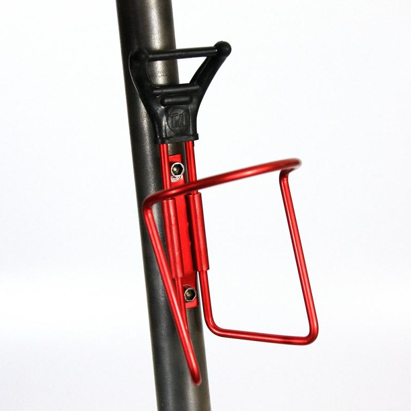 Porte bidon T.A. noir et rouge avec visserie