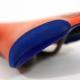 Orange and blue Selle Italia XO