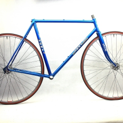 Blue Frame and Forks Heny Sport Ishiwata Tubing tubes Size 54