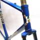 Cadre et fourche bleu Heny Sport tubes Ishiwata Taille 54