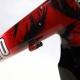 Cadre & fourche 650 noir blanc et rouge Geliano Duret T36