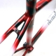 Black white and red Frame and Forks 650 Geliano Duret Size 36