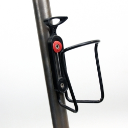 Black bottle cage adjustable spacing with screws