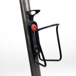 Black bottle cage adjustable spacing with screws