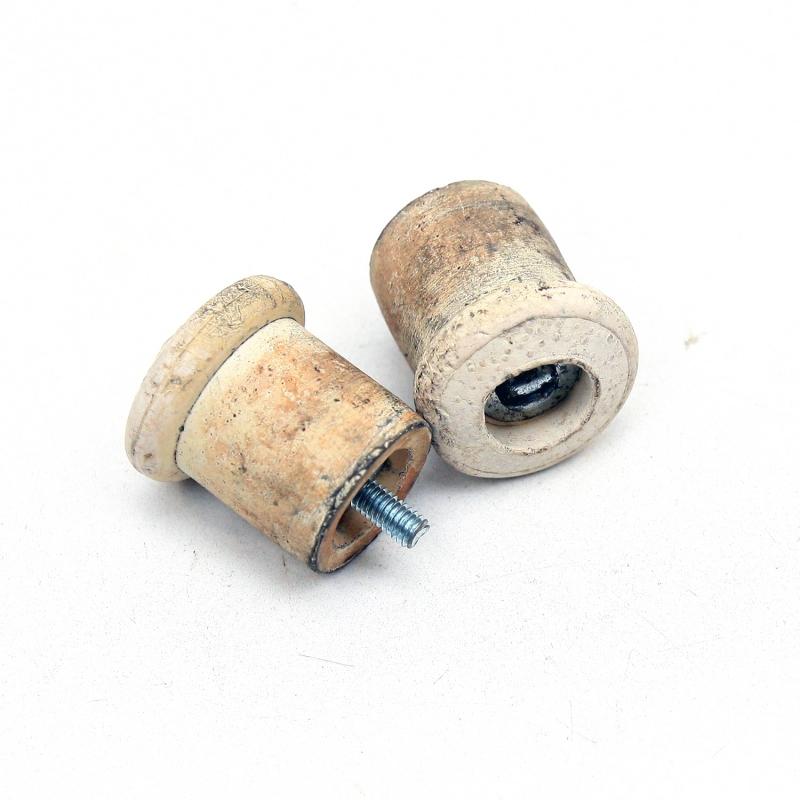 Handlebar plugs Velox - White rubber