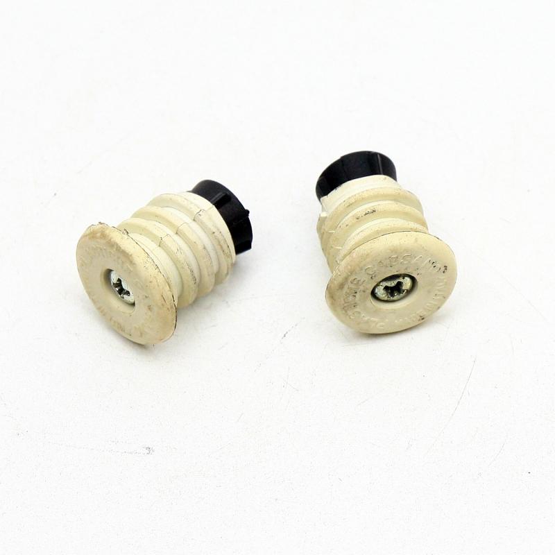Handlebar plugs white Cassano