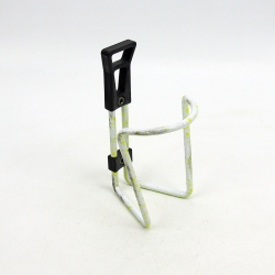 White and yellow bottle cage with screw
