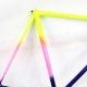 Cadre & fourche Bleu rose et jaune Cycles Tilly Columbus Gara T58