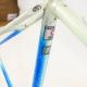 Blue and white Columbus Frame & Fork Cadre & fourche bleu Pinarello Treviso Size 52.5