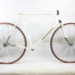 White Frame and Forks sticker Peugeot Size 57.5