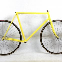 Cadre & fourche jaune Paris Tours T55