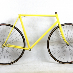 Yellow frame and Forks Paris Tours Size 55