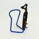 Blue Décathlon bottle cage adjustable spacing with screws