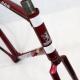 Cadre & fourche rouge grenat Peugeot PF603 Professionnel 600 Taille 57
