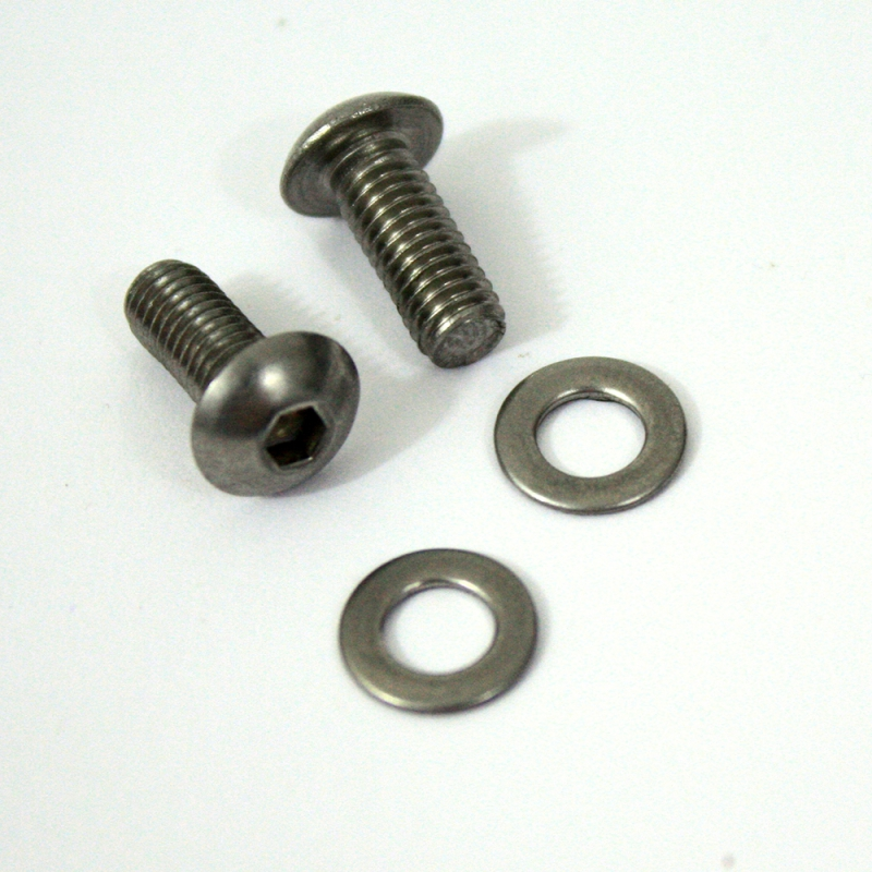 NEW bottle cage button screws stainless steel