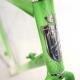 Cadre & fourche contre la montre artisanal vert et blanc Roger Roche Taille 53