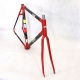 Red Carbon Frame & Forks Look KG131 Size 53