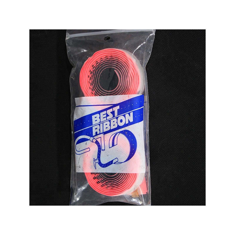 NOS NIB Black and Pink Best Ribbon Handlebar Tape