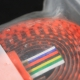NOS NIB Black and fluo orange Best Ribbon Handlebar Tape