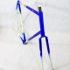 White and blue artisan Frame and Fork Size 60