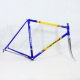 Blue and yellow frame and Forks Fondriest Columbus Gara Size 54
