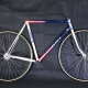Blue white and pink rat's Frame & Forks Faggin Columbus Aelle Size 54